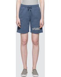 Stussy - Collegiate Sweatshort - Lyst
