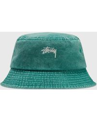 Stussy Stock Washed Bucket Hat - Green