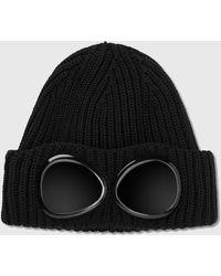 C P Company Goggle Beanie - Black