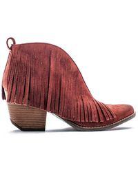 Matisse - Rust Faux Suede Lambert Fringe Boot - Lyst