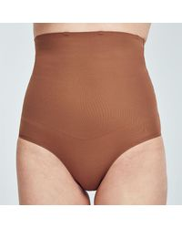 Heist Studios Brown High Waisted Shapewear Trousers