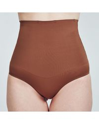 Heist Studios Brown High Waisted Shapewear Pants - Natural