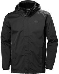 Helly Hansen Men's Dubliner Shell Rain Jacket Black