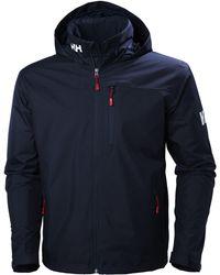 Helly Hansen 's Crew Hooded Midlayer Waterproof Jacket - Red