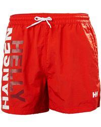 Helly Hansen CASCAIS TRUNK Pantalon Nautico - Rojo