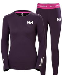 Helly Hansen Lifa Active Set Baselayer Yellow - Purple