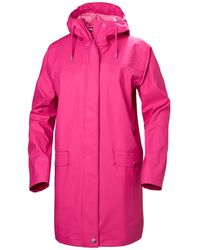 Helly Hansen Moss Rain Coat Jacket Pink