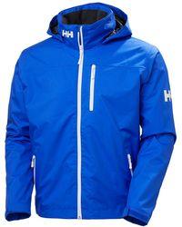 Helly Hansen Men's Crew Midlayer Hooded Sailing Jacket | Blue