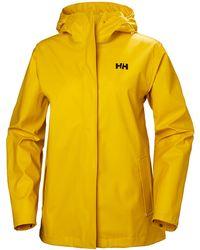 Helly Hansen Damen Moss Wasserfeste Regenjacke - Gelb L
