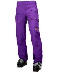 Helly Hansen Aurora Shell Ski Trouser Yellow - Purple