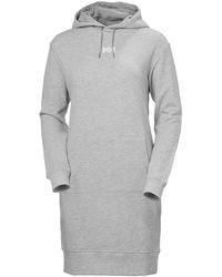 Helly Hansen W Active Hoodie Dress - Grey