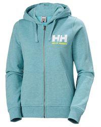 Helly Hansen W Hh Logo Full Zip Hoodie - Blue