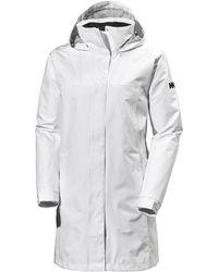 Helly Hansen Aden Long Rain Jacket - White