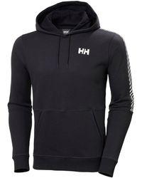 Helly Hansen Men's Active Brushed Fleece Cotton Hoodie | Uk Black