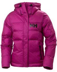 Helly Hansen Stellar Puffy Rain Jacket Yellow - Purple