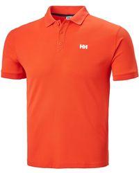 Helly Hansen Herren Driftline Schnelltrocknendes Poloshirt - Rot