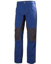 Helly Hansen - Vanir Hybrid Hiking Trouser Blue - Lyst