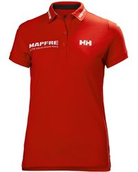 Helly Hansen Womens Cotton Polo Ss - Red