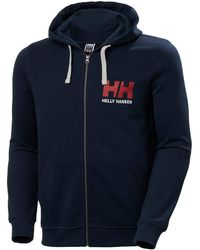 Helly Hansen Hh Logo Full Zip Hoodie - Blue