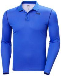 Helly Hansen Hh Lifa Active Solen Ls Polo - Blue