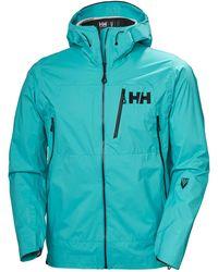 Helly Hansen Odin 3d Air Shell Lightweight Jacket Xxl - Blue