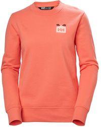 Helly Hansen Nord Graphic Crewneck Sweatshirt S - Orange