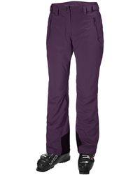 Helly Hansen Women's Legendary Insulated Ski Trousers   Uk Trouser Purple