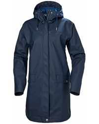 Helly Hansen W Moss Rain Coat - Blue
