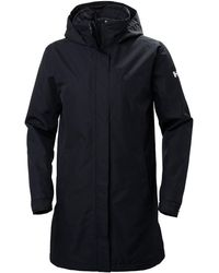 Helly Hansen Women's Aden Long Insulated Rain Coat | Parka Navy - Blue
