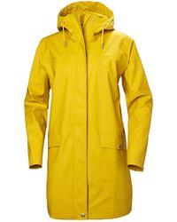 Helly Hansen Moss Rain Coat Jacket Yellow