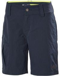 Helly Hansen Qd Cargo Short Pantalon De Voile - Bleu
