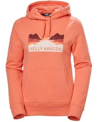 Helly Hansen W NORD GRAPHIC PULLOVER HOODIE - Naranja