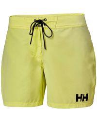 "Helly Hansen - Women's Hp Board Quick Dry Sailing Short 6""   Uk Trouser Green - Lyst"