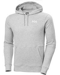 Helly Hansen Men's Active Brushed Fleece Cotton Hoodie | Uk Gray