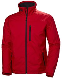 Helly Hansen Crew Midlayer Men's Waterproof Jacket - Red
