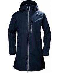 Helly Hansen Long Belfast Rain Jacket Navy - Blue