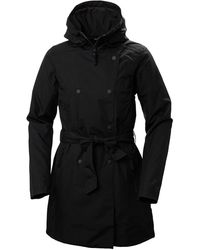 Helly Hansen Welsey Ii Insulated Trench Coat - Black