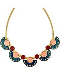 Henri Bendel - Resin Gem Collar Necklace - Lyst
