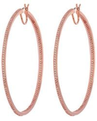 Henri Bendel - Luxe Uptown Pave Hoop Earring - Lyst