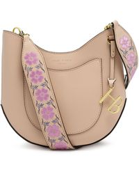 Henri Bendel - West 57th Mini Crossbody Hobo Handbag With Floral Guitar Strap - Lyst