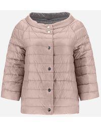 Herno Reversible Bicolor Nylon Ultralight Cape - Pink