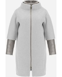 Herno CAPPOTTO CURLY CON NYLON ULTRALIGHT - Grigio