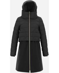 Herno Nuage Parka With Diagonal Wool - Gray