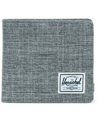 Herschel Supply Co. Gray Raven Crosshatch Hank Wallet