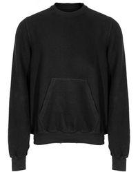 Rick Owens Drkshdw Granbury Crew Neck Sweatshirt - Black