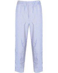 Comme des Garçons - Gingham Straight-leg Trousers - Lyst