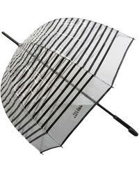 Jean Paul Gaultier Transparent Stripe Umbrella - Multicolor