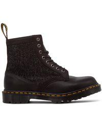 Dr. Martens 1460 Hs Harris Tweed Boots - Black