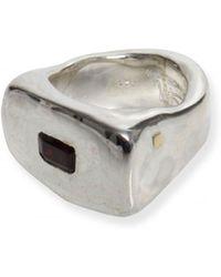 Rosa Maria - Solid Garnet Stone Ring Silver - Lyst