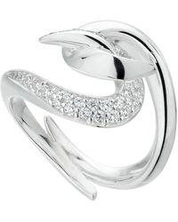 Shaun Leane Silver Hook Diamond Ring - Metallic